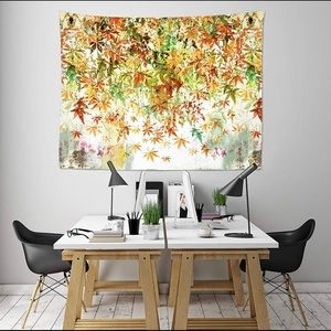 Fall Yellow Maple Leaf Tapestries